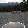 天守から安達太良山をのぞむ