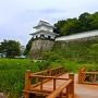 水堀から見た板敷櫓