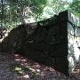 石御門跡付近の石垣