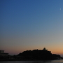 暮れの犬山城(木曽川対岸より)