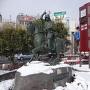 上田駅前の真田幸村像
