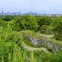 天守台から見た福岡の江戸と平成