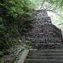 東二の丸からの本丸付近の石垣