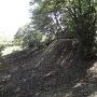 本丸東の段郭と三日月状空堀