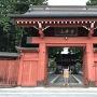 美しい総門(由木の赤門)