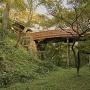 堀底からの桜雲橋と問屋門