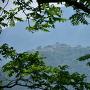 立雲峡から城跡を覗く