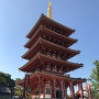 輝く五重塔