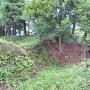 外郭の堀と土塁