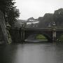 二重橋と伏見櫓(雨天時)