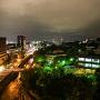 ホテルから夜の熊本城を望む[提供:キロクマ!]