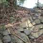 主郭と腰曲輪間の石垣