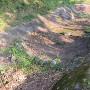 堀に投げ込まれた大量の石塔