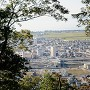 太尾山城下を見下ろす