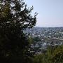 展望台から大間々の町を見る