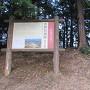 城跡標柱と案内板