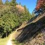 岩村城 出丸から見た本丸石垣