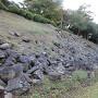 本丸土塁と石垣