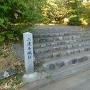 城址碑と入口