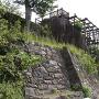 本丸石垣(玄関門口付近より)