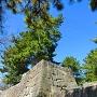 冠木御門から太鼓櫓へ続く石垣