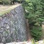 石垣から大手門付近を望む