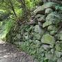 遊歩道に現れる石垣