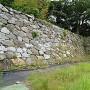 内堀跡から本丸石垣