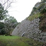 山上詰城跡の高石垣