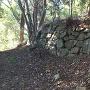 本丸跡への登城道の途中にある石垣