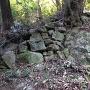 本丸跡へ行く登城道の途中にある石垣