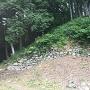 大広間に残る石垣