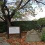 城址碑と秋模様