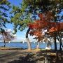 本丸跡から見た近江大橋