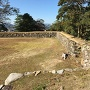 本丸上段の土塀跡