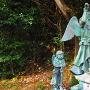登城口先の天狗像