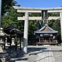 城跡に建つ住吉神社
