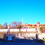 遊亀橋から望む城址