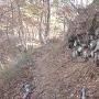 搦手側にある石垣