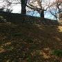 再築前の土塁が残る前橋公園土手