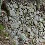 登城道途中の石垣