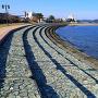 城下の岡崎海岸で、ひとやすみ