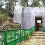 修理中の赤門