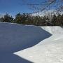 雪の土塁!