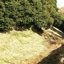 天守台南側の堀