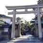 岸和田城のそばにある岸城神社