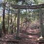 追入神社からの登城道