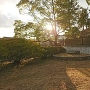 夕方の緒川城の土塁