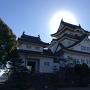 太陽を背にした岸和田城