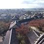 和歌山城天守閣から見た天守曲輪と城下町